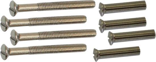 Qlinq Nikkel Patentbout - 4 x 38 mm