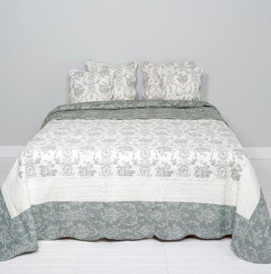 Q130.061 - Bedsprei - 230 x 260 cm - synthetisch - grijs
