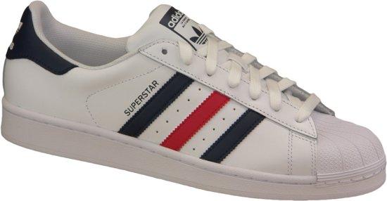 adidas Superstar schoenen wit rood