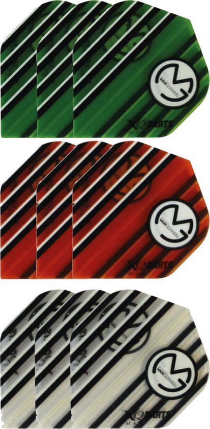 Dragon darts 3 sets (9 stuks) Super Sterke - Multicolor - Michael van Gerwen flights - darts flights