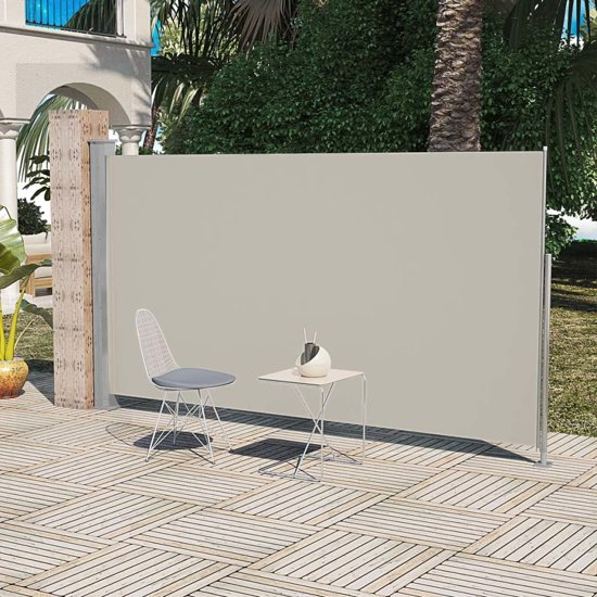 vidaXL - Zonnescherm Uittrekbaar wind- / zonnescherm 160 x 300 cm - crème