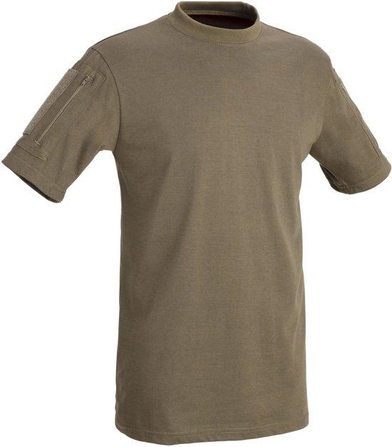 Tactical T-Shirt Met Zak - Coyote Brown