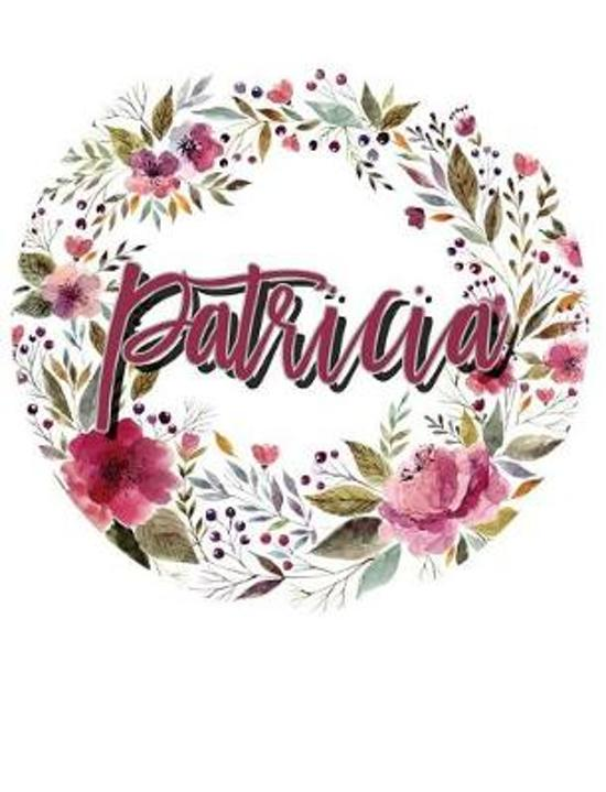 Patricia Floral Wreath Personalized Notebook