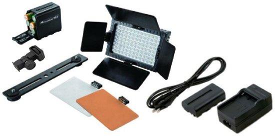 Falcon Eyes LED Lamp Set Dimbaar DV-96V-K2 incl. Accu