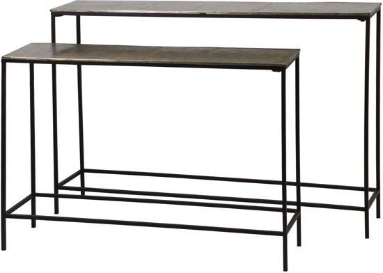 Side Table Bruin.Light Living Sidetable Hartsville S 2 Max 119x25x80 Cm D Bruin Brons
