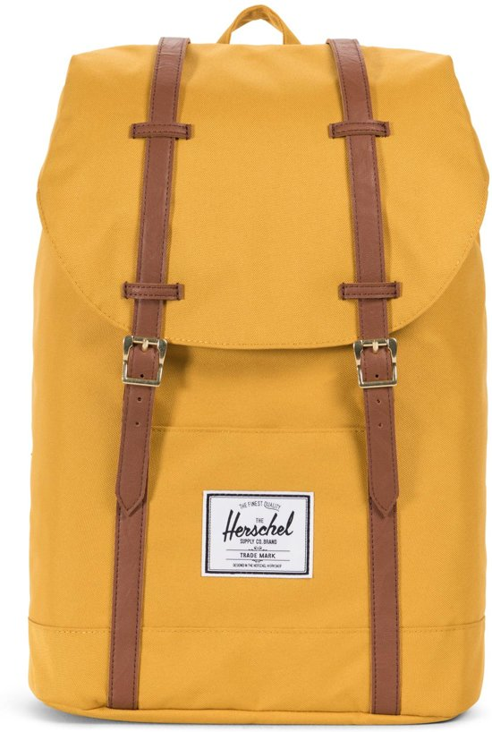 cbdaf1ebfad Herschel Supply Co. Retreat Rugzak - Arrowwood/Tan Synthetic Leather