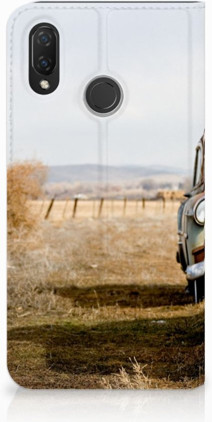 Huawei P Smart Plus Uniek Standcase Hoesje Vintage Auto