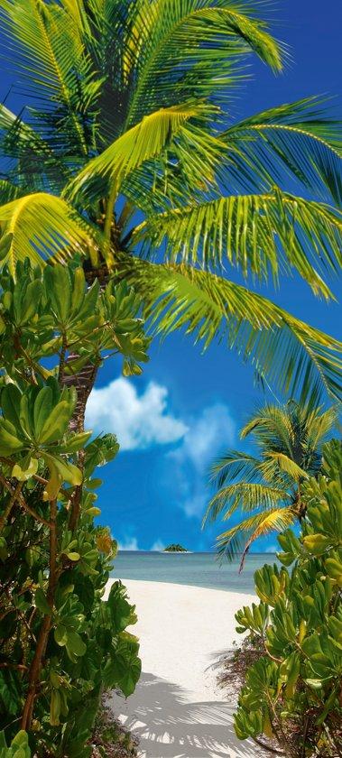 Fotobehang, Deurposter, Tahiti, Natuur, 90 x 200 cm. Art. 97575