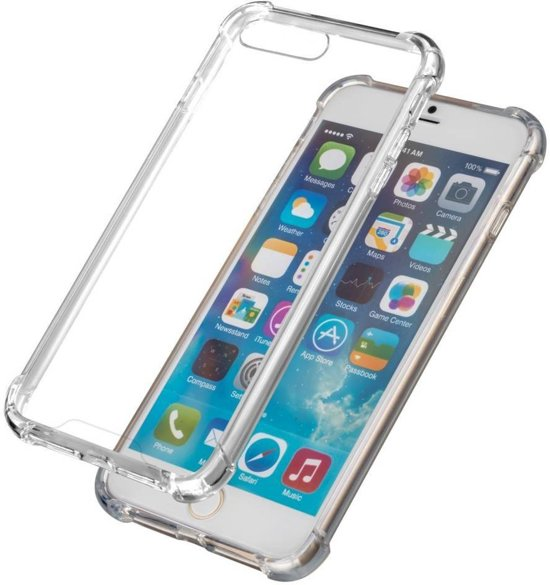 Transparant TPU Siliconen Case Hoesje voor iPhone 8 Plus (extra verstevigde randen)