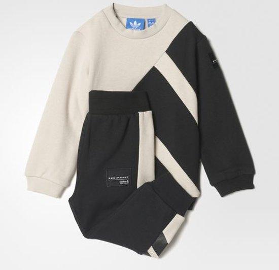 1ed2d550c74 bol.com | Adidas EQT crew joggingpak zwart / taupe maat: 92