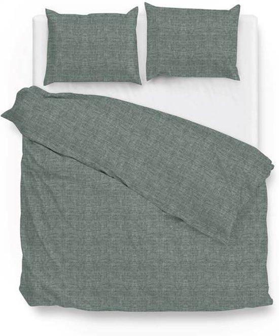 Zo! Home Lino - Dekbedovertrek - Lits-jumeaux - 240x200/220 cm + 2 kussenslopen 60x70 cm - Emerald Green