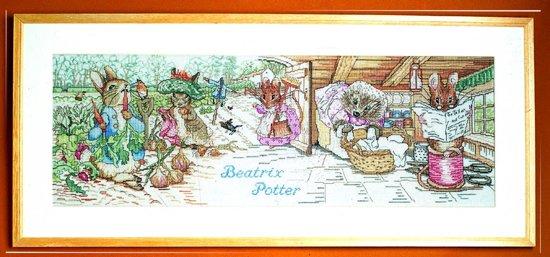borduurpakket 70-9420 beatrix potter, wereld van peter rabbit