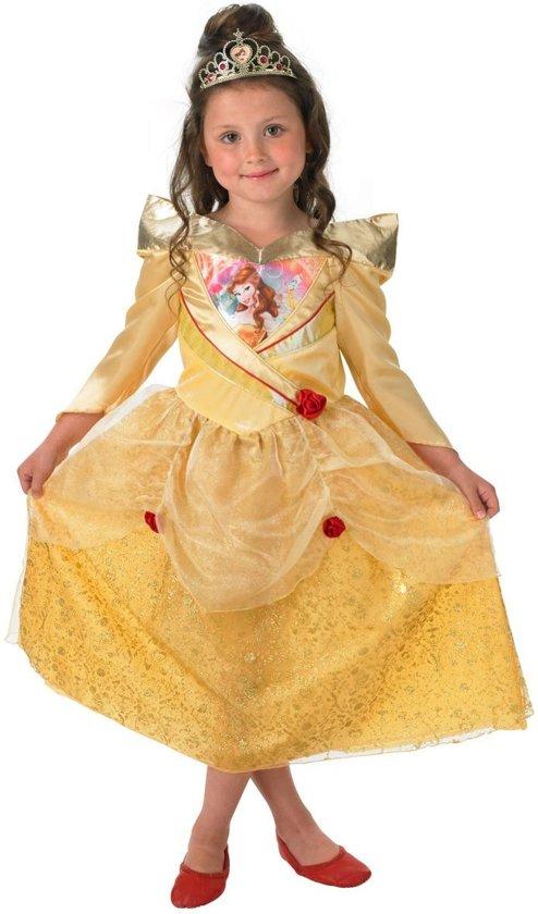 9506395b813d88 Disney Prinsessenjurk Belle Shimmer - Kostuum Kind - Maat 98 104