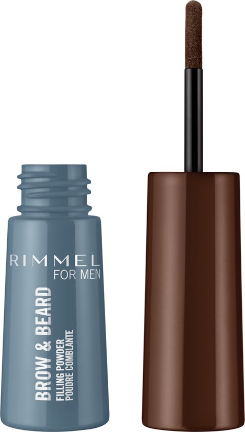 Rimmel for Men Brow & Beard Filling Powder - Donkerbruin - Wenkbrauwpoeder - Baardvulling