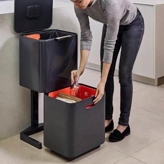 Joseph Joseph Intelligent Waste Totem Max 60 Liter Donkergrijs