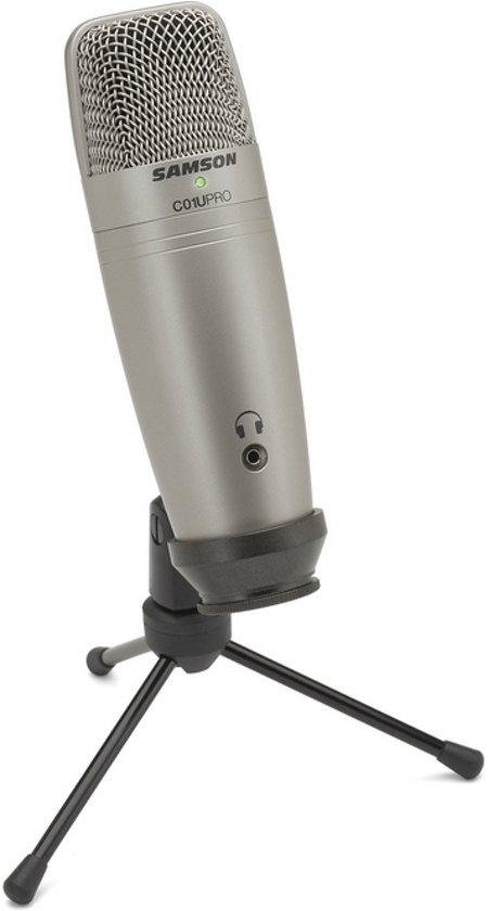 Samson C01U Pro - USB studio condensator microfoon - Grijs