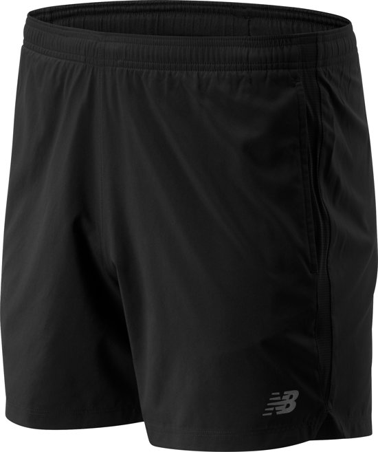 New Balance ACCELERATE 5IN SHORT Heren Sportbroek - Black - L