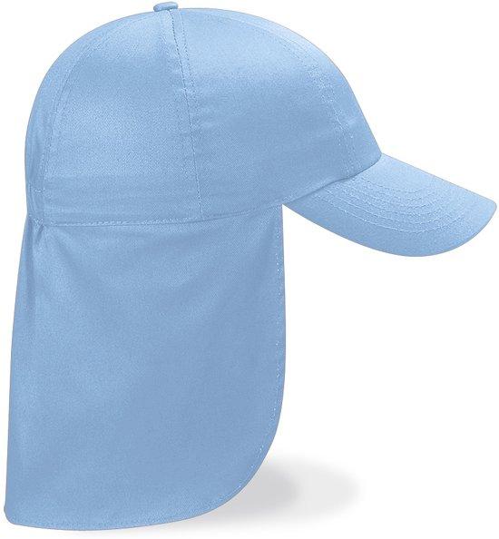 Beechfield CAP met nekbescherming - Kinderpet - Sky Blue