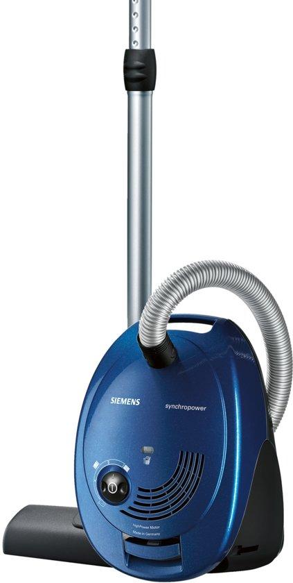 Siemens VS06C100 Synchropower - Stofzuiger met zak - Blauw