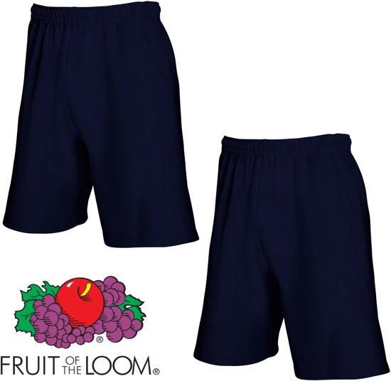 Fruit of the Loom (2 Pack) Korte Broeken Blauw Maat M