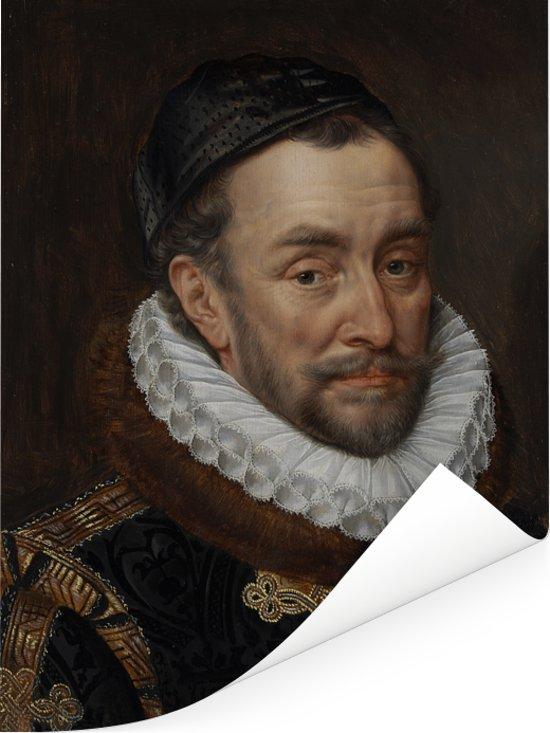 Willem van Oranje - Schilderij van Adriaen Thomasz Poster 30x40 cm - klein - Foto print op Poster (wanddecoratie woonkamer / slaapkamer)