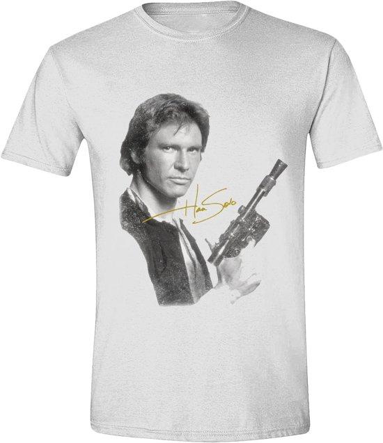 Star Wars - Han Solo Portrait Men T-Shirt - White - M
