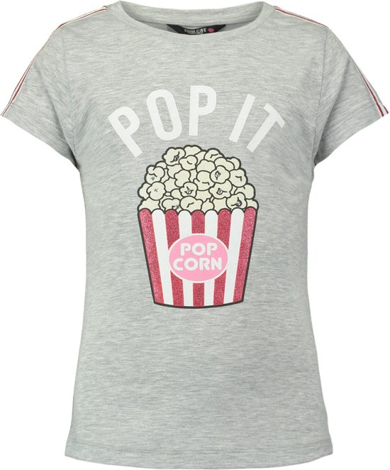 1fce5c83d63dff Coolcat Shirt T-shirt Epop - Licht Grijs Melange - 122 128