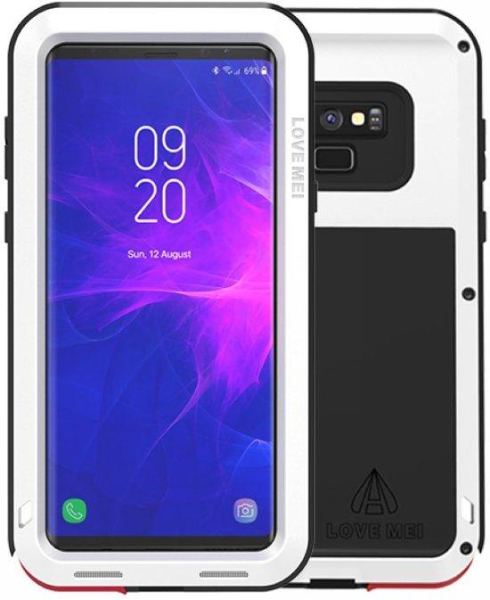 Metalen hoes voor Samsung Galaxy Note 9, Love Mei, metalen extreme protection case, zwart-wit