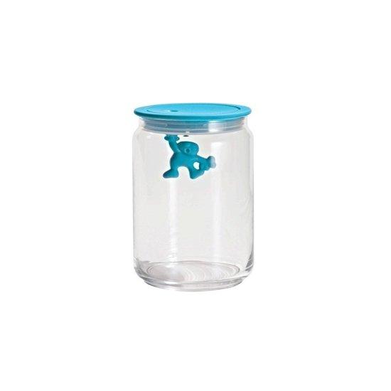 Pot Met Deksel.Bol Com Alessi Gianni Glazen Pot Met Deksel 15 Cm Blauw