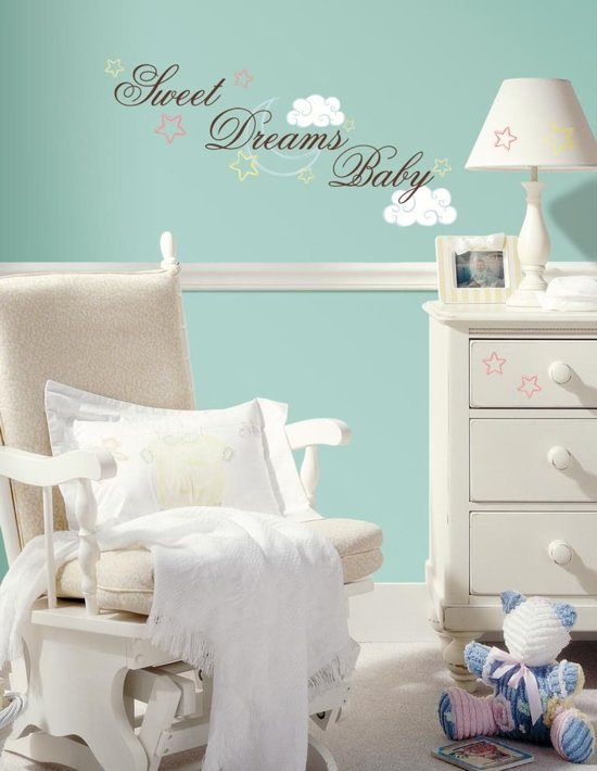 Bolcom Roommates Muursticker Sweet Dreams Baby Multi