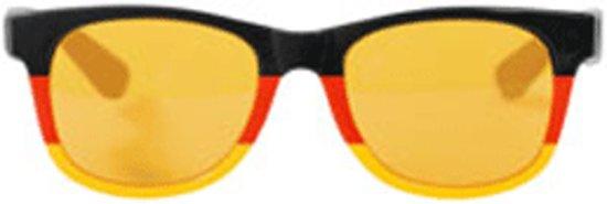 Blues bril zwart, rood en geel