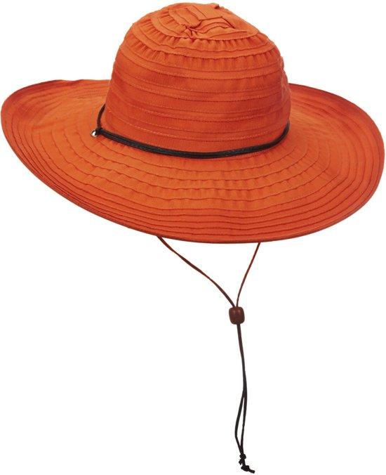 08f43f9ad223cc bol.com | Scala UV beschermende Zonnehoed Dames - Oranje - Maat 57cm