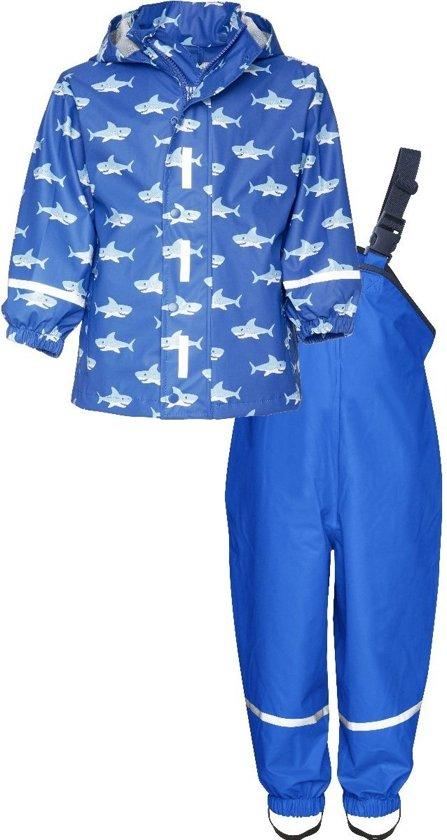 Playshoes Regenpak Kinderen Haaien - Blauw - Maat 140
