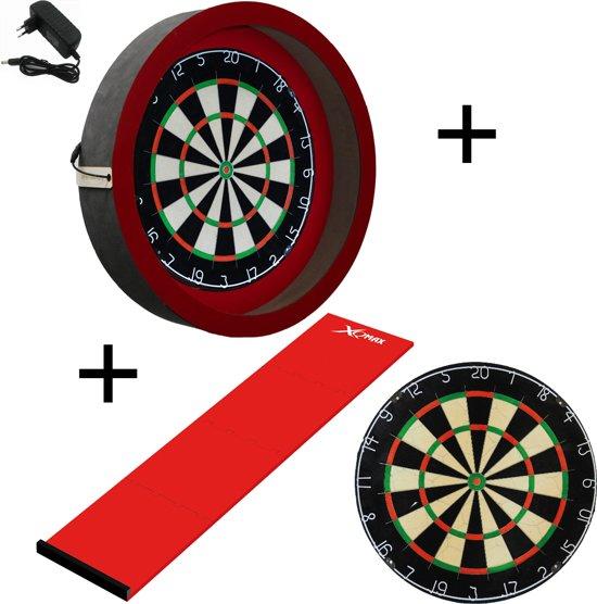 Dragon darts - Sorpresa PRO set - Rood-Rood - dartbord - dartmat - dartbord verlichting