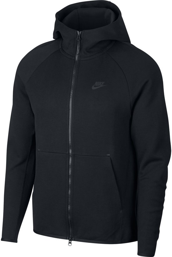 Nike MSW Tech Fleece Hoodie Fz Vest Heren - Black/(Black) - Maat S