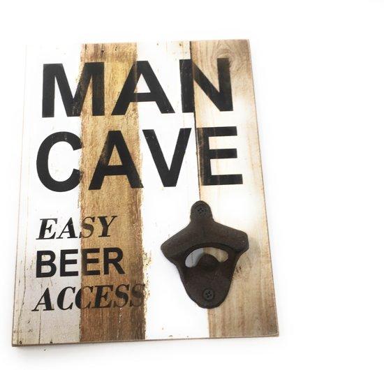 3998cdee875 Wandborden Hout Spreukbord Met Tekst Bier Fles Opener Woondecoratie Man Cave  Verjaardag Cadeau