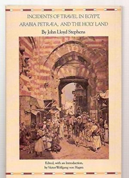 Boek cover Incidents of Travel in Egypt, Arabia Petraea and the Holy Land van John L. Stephens (Paperback)
