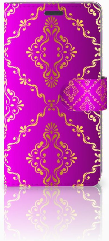 LG X Power Exclusief Design Hoesje Barok Roze in Jamagne