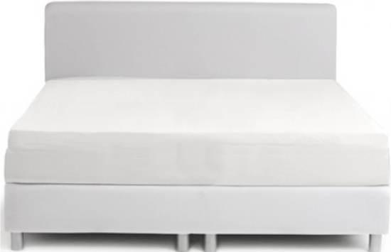 Dusk till Dawn Hoeslaken Katoensatijn 180x200cm - Wit