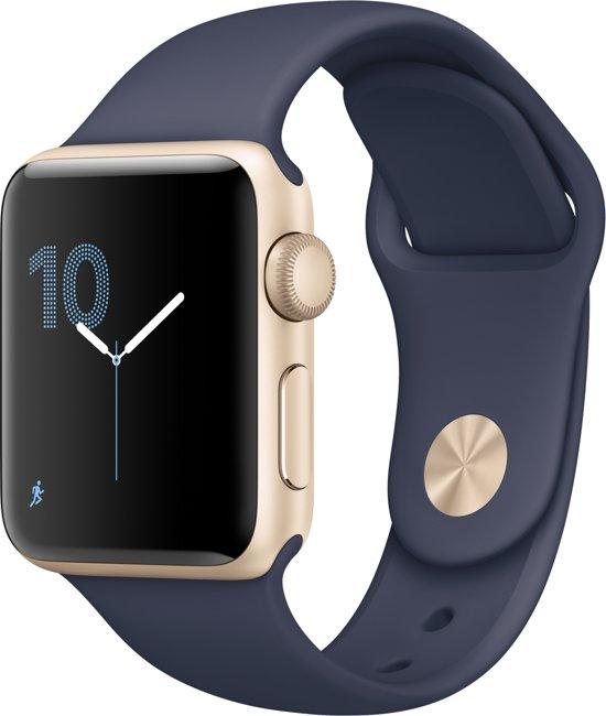 Apple Watch Series 1 Smartwatch 38mm - Goud Aluminium /  Blauw sportband
