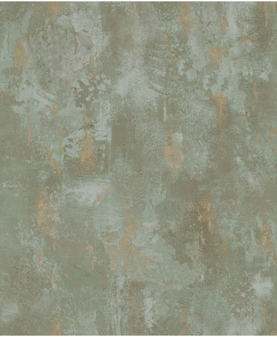 New bol.com | Textured Plains beton groen/beige behang (vliesbehang #XK14