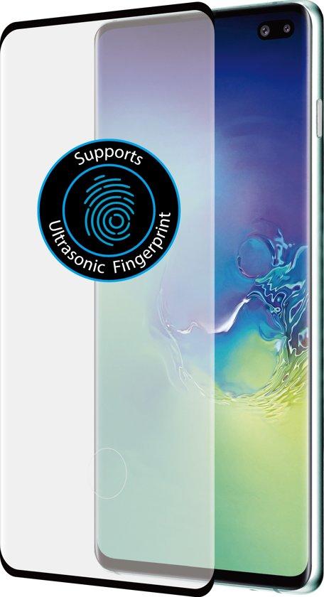Azuri screenprotector curved tempered glass RINOX ARMOR - Voor Samsung Galaxy S10 Plus - Zwart