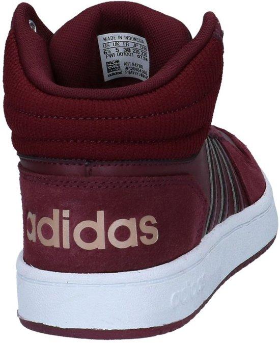 Dames Bordeaux Maat 1 3 Hoops 0 2 Adidas Mid 39 Rd17qUwwx