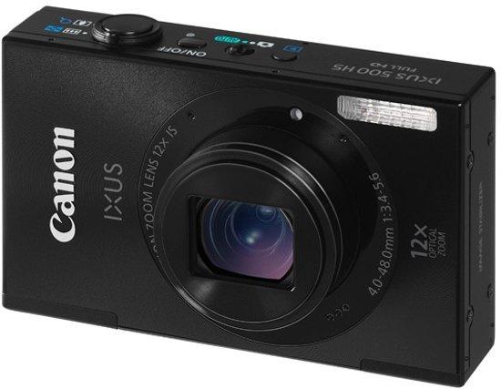 Canon IXUS 500 HS - Zwart