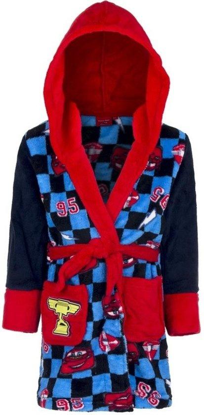 a0da0a386d6 bol.com | Blauw/rode Cars badjas met capuchon voor jongens 128 (8 jaar)