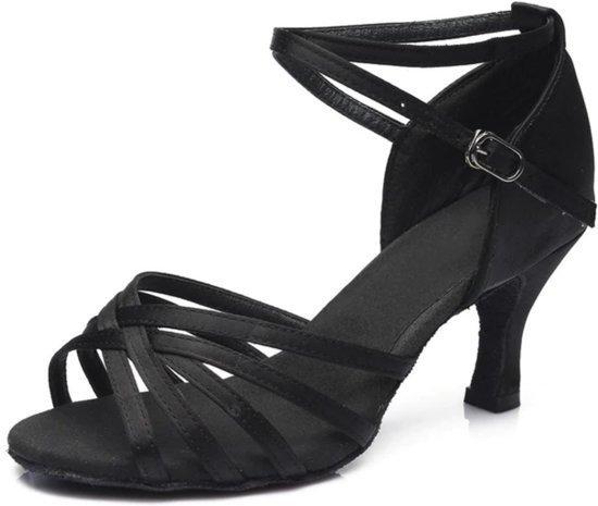 Dans Schoenen Dames Latin Salsa Tango Ballroom - maat 38/39- Zwart