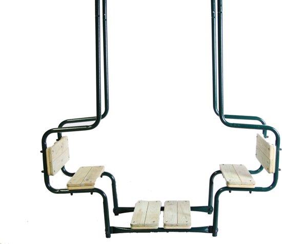 Favoriete bol.com | Schommel duozit metaal+hout zitje vierkant SwingKing 2521139 UJ52