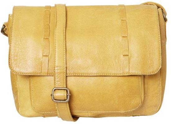 2d0bf79e471 bol.com | Felicity Leather Large crossbody Dark Mustard