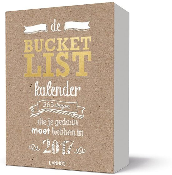 De Bucketlist kalender 2017