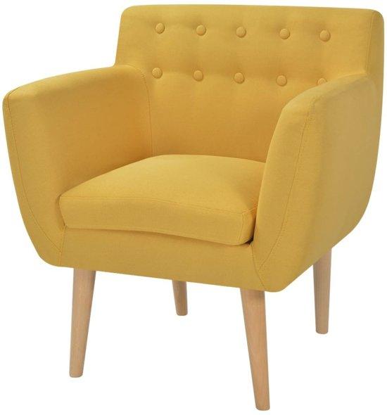 vidaXL Fauteuil 67x59x77 cm stof geel